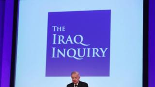 Sir John Chilcot presents the Iraq Inquiry report on 6 July 2016