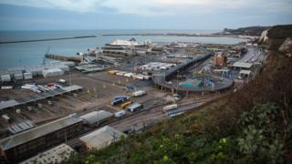 Port of Dover from above