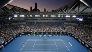 A general view the first round of the 2016 Australian Open in January