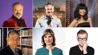Graham Norton, Gary Lineker, Claudia Winkleman, Chris Evans, Fiona Bruce and Andrew Marr