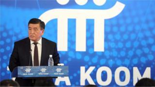 """""""Таза коом"""" боюнча кеңештин биринчи жыйыны өтүп, ага премьер-министр Сооронбай Жээнбеков төрагалык кылды"""