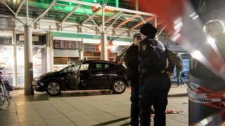 Полицейское оцепление на месте ЧП в Гейдельберге