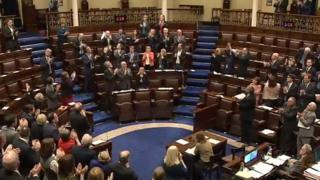 There was a standing ovation as Enda Kenny made the announcement in parliament