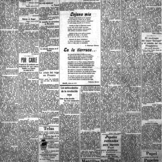 El Tiempo - 18 марта 1917 год