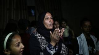 Palestinian relatives held funerals on Tuesday for those who died a day earlier