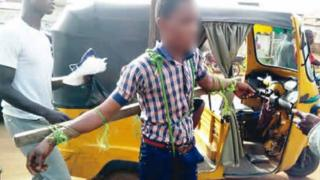 Pikin wey dem tie for cross as punishment - Ogun State