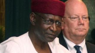 Abba Kyari da tare da tsohon jakadan Amurka a Nijeriya Entwistle