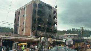 Hotel wey dem burn