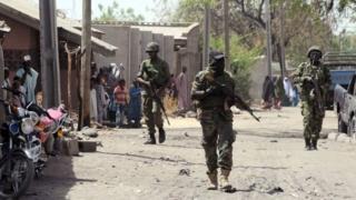 Sojojin Najeriya dake yaki da Boko Haram a Maiduguri