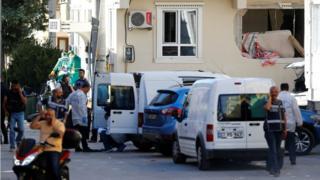 Gaziantep'te basılan hücre evinin bulunduğu evin çevresi