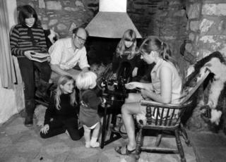 The Seymour family, pictured in 1973