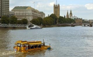 London Duck Tour vehicle