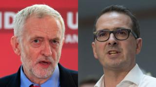 Jeremy Corbyn a Owen Smith