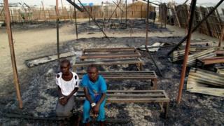Güney Sudan'da yakılan bir okul