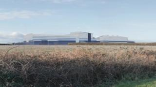 An artist's impression of the substation at Solent Airport