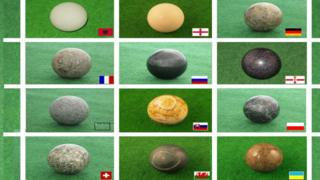 Rocks from each country