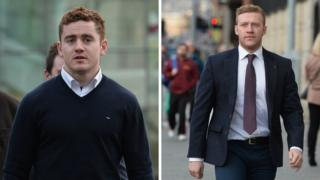 Paddy Jackson and Stuart Olding arrive in court