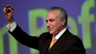 Michel Temer en Brasilia, Brasil.