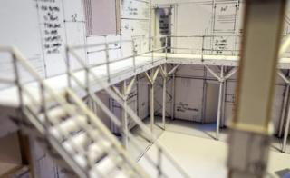 Industrial zone paper model