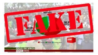 Iyo nkuru itari iy'ukuri yakozwe mu buryo igaragara nkaho yakozwe n'ikiganiro cya BBC Focus on Africa