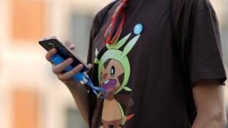 Pokemon Go player