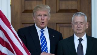 Donald Trump and General James Mattis