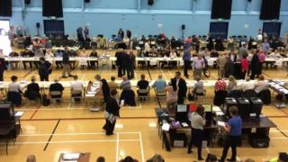 Counting in the PCC election in Durham