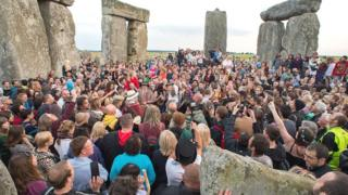 Summer solstice at Stonehenge, Wiltshire