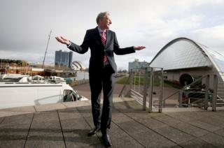 Central Scotland MSP Richard Leonard, pictured alongside the Clyde, after he was announced as the new leader of the Scottish Labour party at an event at the Glasgow Science Centre, Glasgow