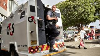 G4S security personnel
