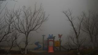 霧霾下的中國城市