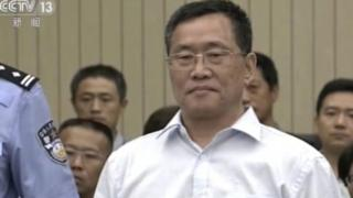 """In this image taken from video and made available via AP Video, Zhou Shifeng arrives for his trial at the Tianjin No. 2 Intermediate People""""s Court in northern China""""s Tianjin Municipality on Thursday, Aug. 4, 2016."""