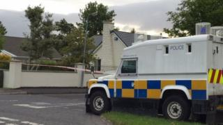 An army bomb disposal team is examining a suspicious object at Glenrandel