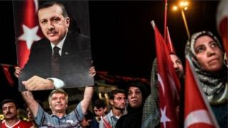 Туркия. Президент Эрдўғон тарафдорлари