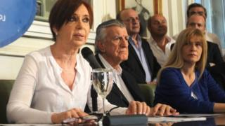 Cristina Fernandez during press conference in Buenos Aires