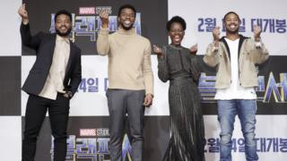 Black Panther cast at Asia premiere in Seoul