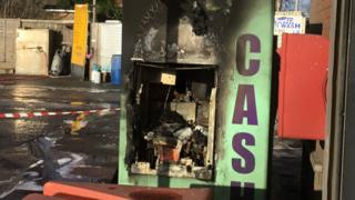 The burnt-out cash machine