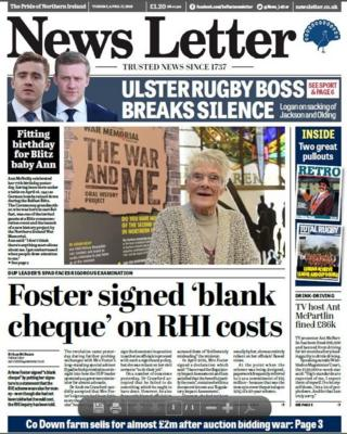 News Letter Front Page 17/04