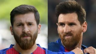 Reza Parastesh y Lionel Messi.