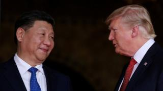 US President Donald Trump welcomes Chinese President Xi Jinping at Mar-a-Lago state in Palm Beach, Florida, US, 6 April 2017.