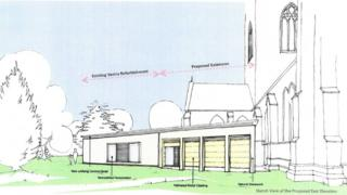 A sketch of the extension