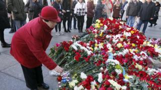 Акция памяти жертв взрыва в Петербурге