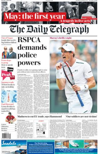 Telegraph front page