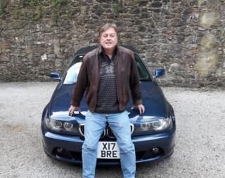 Mark Hoyle with Brexit plate