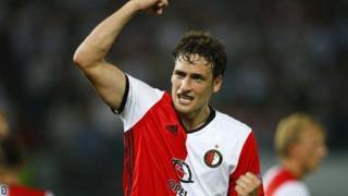 Mlinzi wa Feyenoord Eric Botteghin alikuwa nyota wa mchezo