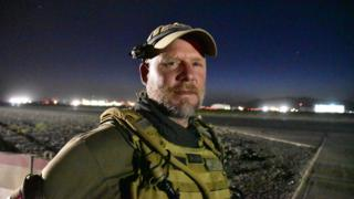 This May 29, 2016, photo shows David Gilkey, a veteran news photographer and video editor for National Public Radio photographer, at Kandahar Airfield in Afghanistan.