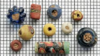 Stolen archaeological beads