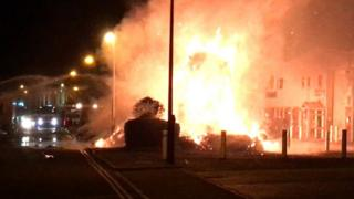 Lorry fire, Old Mill Road, Portishead