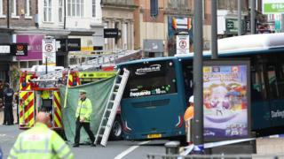 Bus crash on Northgate, Darlington