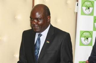 Umukuru w'akanama kajejwe amatora muri Kenya Wafula Chebukati